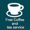Free Coffee and tea service